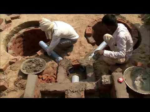 Construction of two leach pit toilet part 3