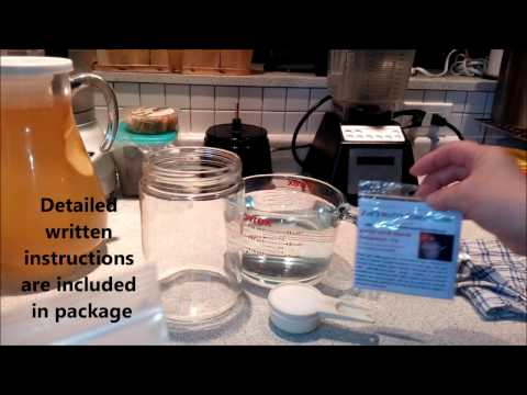 Pt1 - Making Fresh Water Kefir Grains from Dehydrated by ZNC