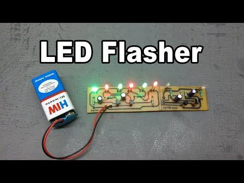 DIY 6 LED + 2 LED Flasher Part #2 Board ( Hindi Electronics ) ELECTROINDIA