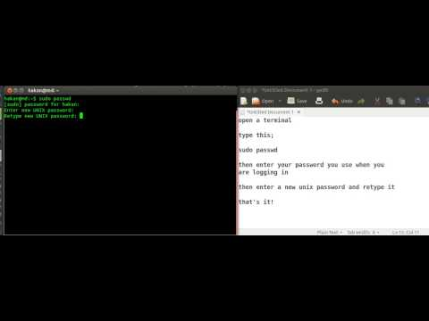 how to change unix password in linux