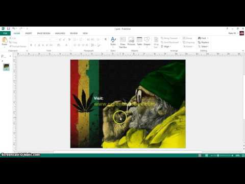 How to make text transparent (see through) in Microsoft Publisher