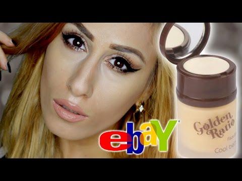 eBay Cheap 💰 £5 Liquid / Cream Gold Highlighter  || Golden Ratio || REVIEW + DEMO