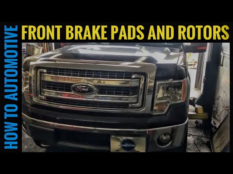 How to Replace the Front Brake Pads and Rotors on a 2012-2014 Ford F-150 XLT