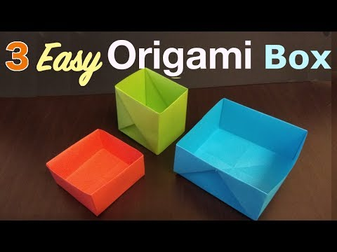 3 ways to make Easy Origami Box