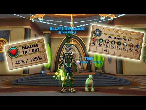 Wizard101: MY NEW JADE GEAR SETUP - Lvl 125 Life
