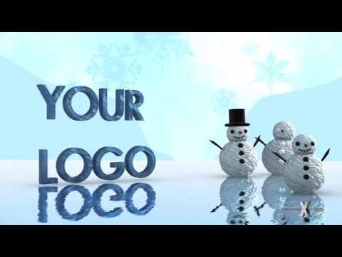 Adobe After Effects Snowman Family Logo Template