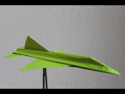 How to make a paper plane. Instruction and flight test | F16