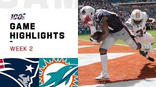 Patriots vs. Dolphins Week 2 Highlights | NFL 2019