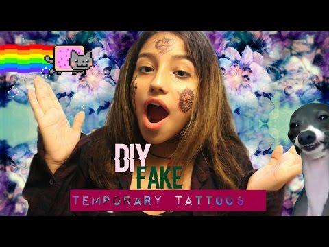 How To Make Fake Temporary TATTOOS!