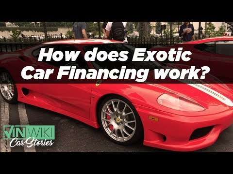 How can I finance my first exotic car?