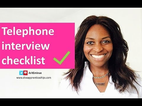 Phone interview checklist -  how to pass phone interviews