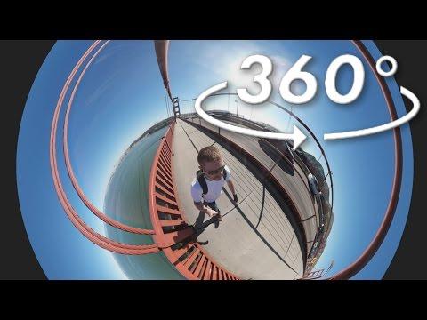 Walking Across Golden Gate Bridge in 360 Video HD (1 of 2) San Francisco