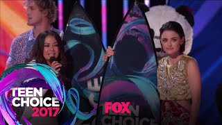Jake Paul Surprises Lucy Hale And Janel Parrish | TEEN CHOICE