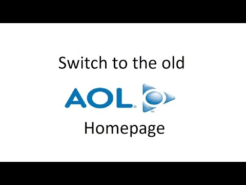 How to Switch to the Old AOL Homepage