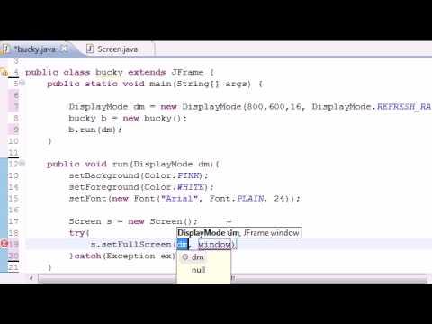 Java Game Development - 5 - Creating a Full Screen Display