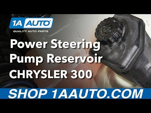 How to Install Replace Power Steering Pump Reservoir 2005-10 Chrysler 300