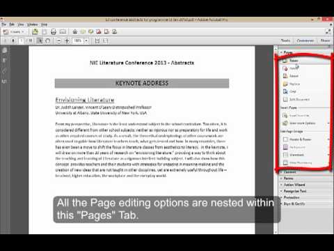 Deleting Pages from a PDF document