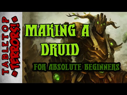 Making a D&D Character from Scratch - A 5E Druid - Step by Step (Provokers) (Dungeons & Dragons)