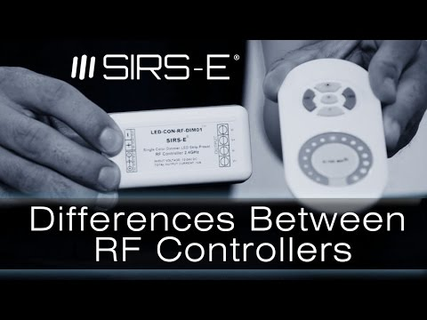 LED RF Controllers Differences by SIRS-E