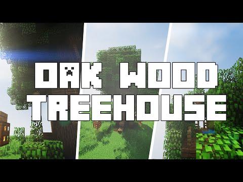 Minecraft: Oak Wood Treehouse [Tutorial]