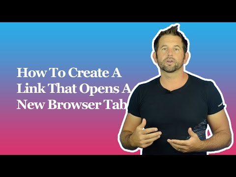How To Create A Link That Opens A New Browser Tab