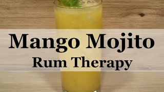 There are numerous mango mojito recipes on the web, so we tried a few, changed one up a little and came up with a winner! Be sure you choose a ripe mango for this recipe for smooth consistency and the best taste. This Rum Therapy Mango Mojito makes a great summertime treat!