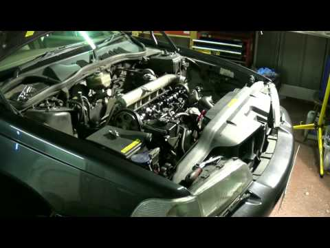 D5252T timing belt change part 1: Preparation. Volvo 850 S70 V70 S80 TDI 2.5D