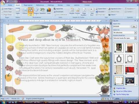 HOW CAN CREAT YOUR OWN PAGE BORDER IN MICROSOFT WORD