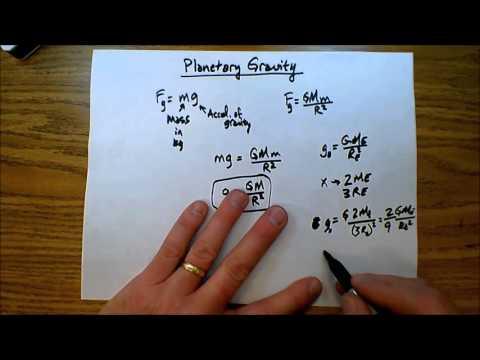 Planetary Gravity   Escape Velocity