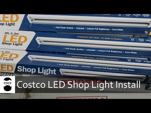 Costco LED Shop Light Install