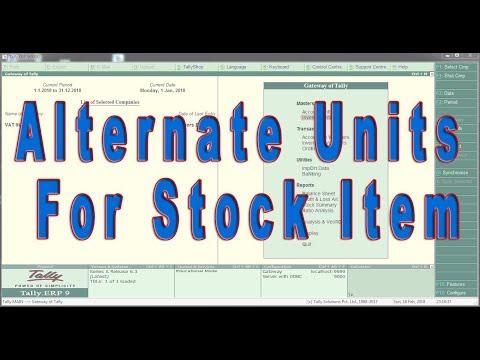 Alternate Units for Stock Item