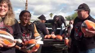 RAW VIDEO: Sister Evelyn Mourey Center, ABATE give turkeys to those in need