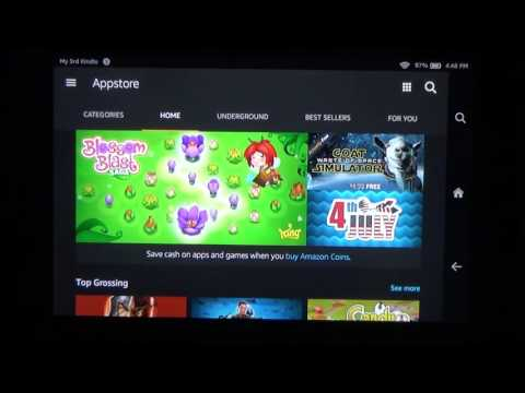 How to update a game, like MINECRAFT PE, on your Kindle Fire.