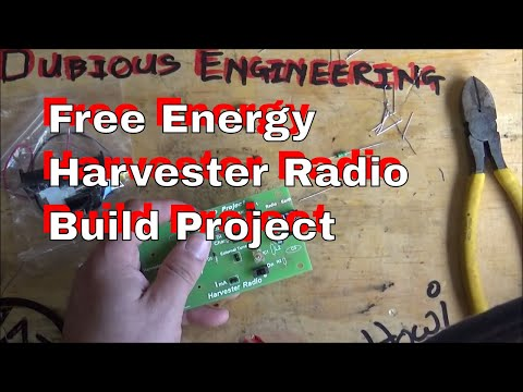 Free Energy Harvester Radio Part 1 - Project Build