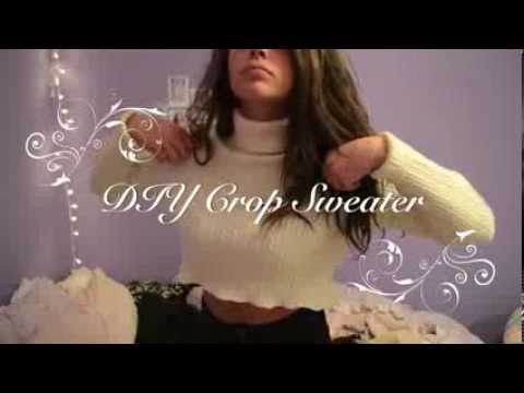 DIY CROP SWEATER ♡ ((EASY NO SEW))