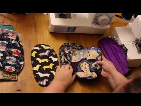 Easy and fast cloth reusable pads with a serger (or without)