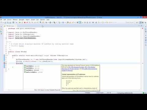 Java Networking - Basics - WhoAmI?