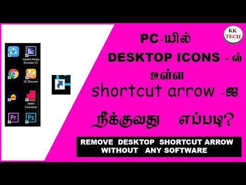 how to remove shortcut arrow from desktop icons | without any software