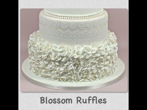 How to Make Blossom Flower Fondant Ruffle Ruffles Cake Decorating Tutorial