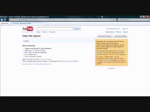 Youtube - How to upload a video