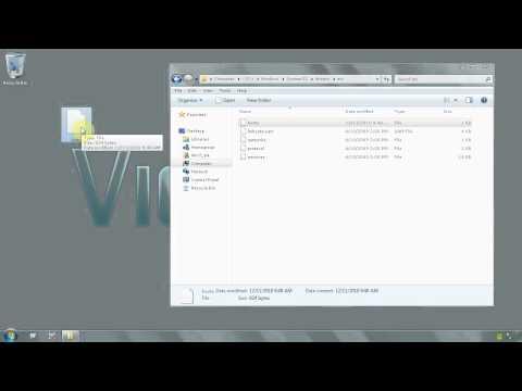 Windows 7 Ultimate 64 bit - How to edit host file - www.vid4.us