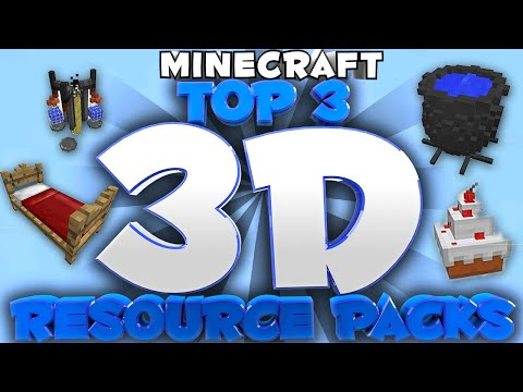 Minecraft Top 3 3D Resource packs 1.8.X