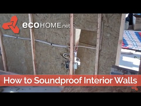 Soundproofing interior division walls