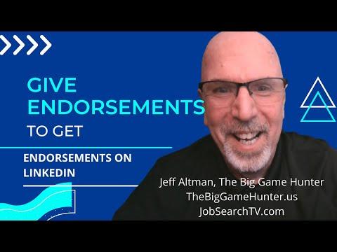 Give Endorsements to Get Endorsements on LinkedIn (VIDEO)