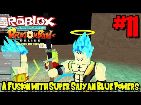 A Fusion With Super Saiyan Blue Powers Roblox Dragon Ball Online