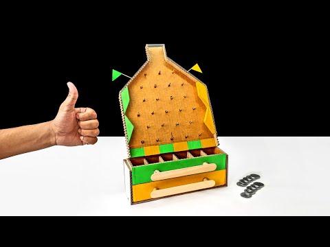 Wow! Amazing DIY Plinko Money Making Board Game From Cardboard