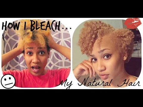 How I Bleach & Tone My Natural Hair| Type 4b + Length Check