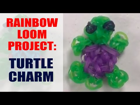 How to make cute turtle charms with rainbow loom