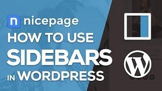How to use WordPress Sidebars in Nicepage Website Builder