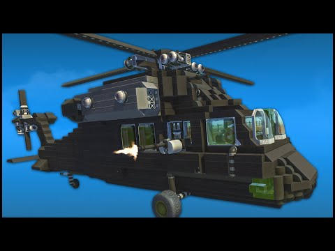 FLYING HELICOPTER & AIRPLANE! (Scrap Mechanic Creations)